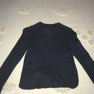 American Apparel Blue Distressed Sweater
